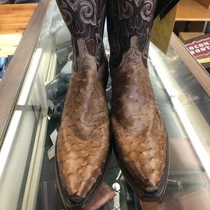 Ladies Lucchese full quill ostrich boots 11M NWT